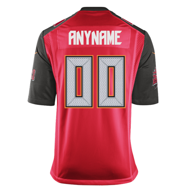 7104a2b0b Buccaneers Youth Red Game Customized Jersey by Nike - Tampa Bay ...